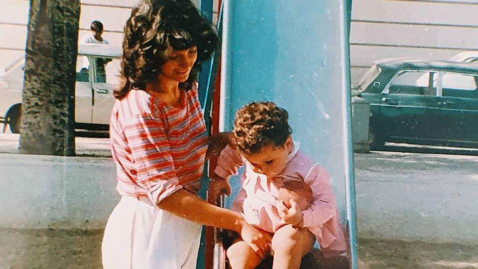 Rodrigo Gomes com a mãe