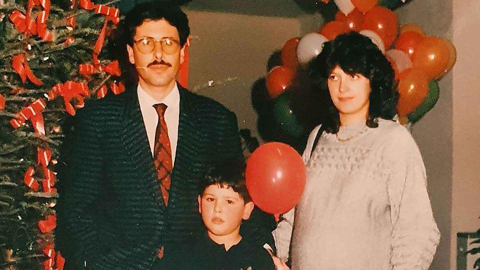 Rodrigo Gomes e os pais