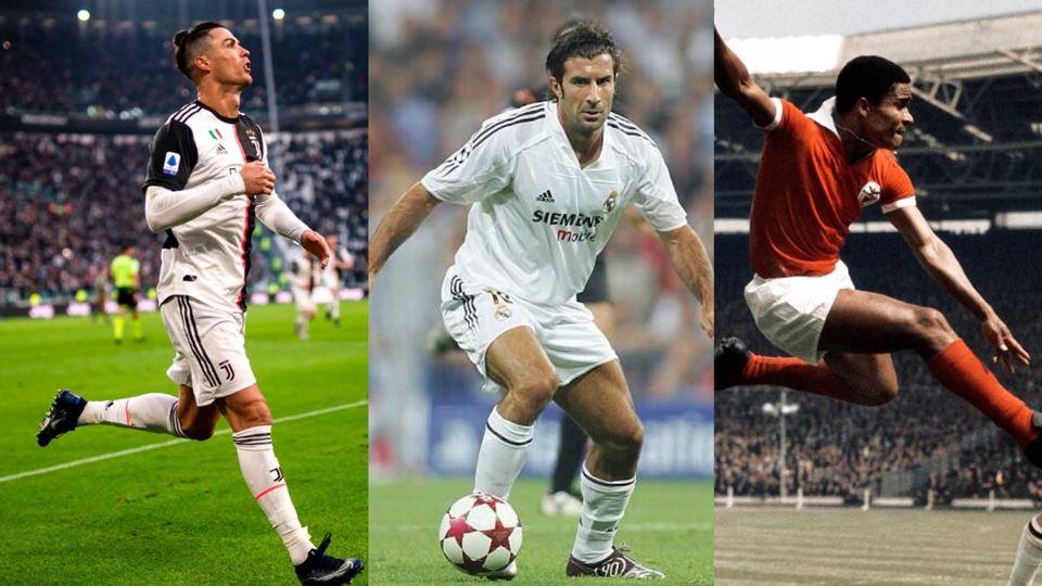 Ronaldo, Figo e Eusébio estão ...