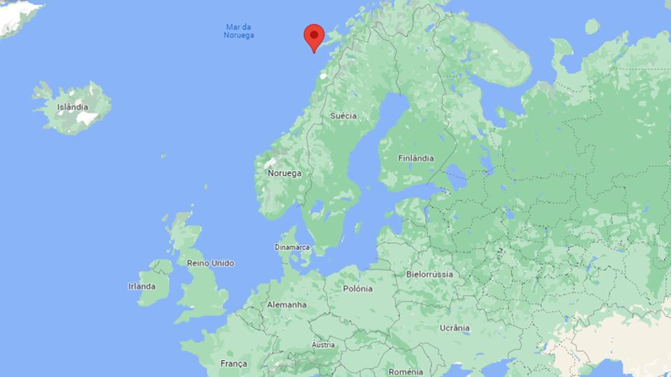 Vila Å no mapa